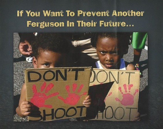A flyer in Georgia warns families that what happened in Ferguson could happen there, too. - VIA