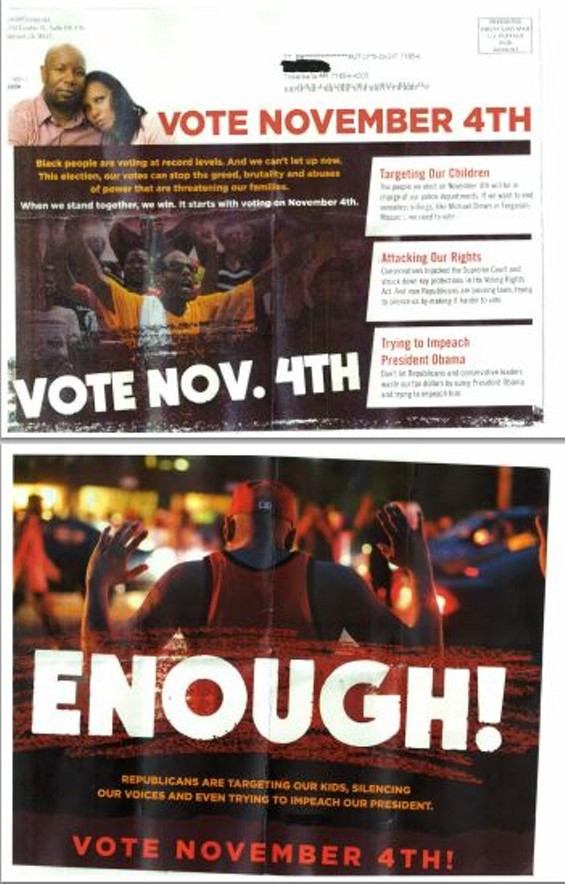 A mailer sent to voters in Arkansas. - VIA