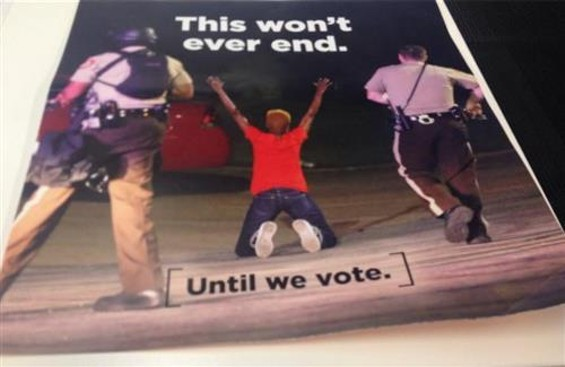 A mailer sent to voters in North Carolina. - VIA