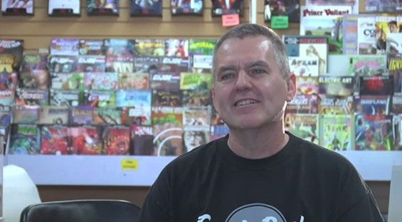 Steve Koch, the long-time owner and founder of Comic Headquarters. - YOUTUBE