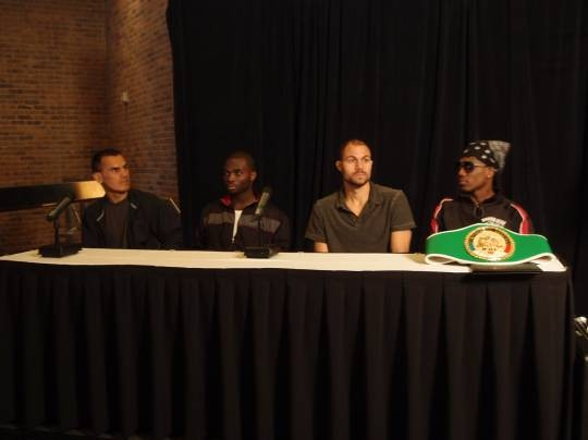 ESPN's Friday Night Fights comes to Ameristar Casino in St. Charles. From left to right: Antonio Cervantes, Antwone Smith, Kermit Cintron, Dannie Williams - ALBERT SAMAHA