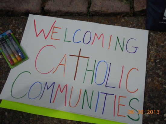 At PrideFest this weekend. - COURTESY OF CATHOLIC ACTION NETWORK
