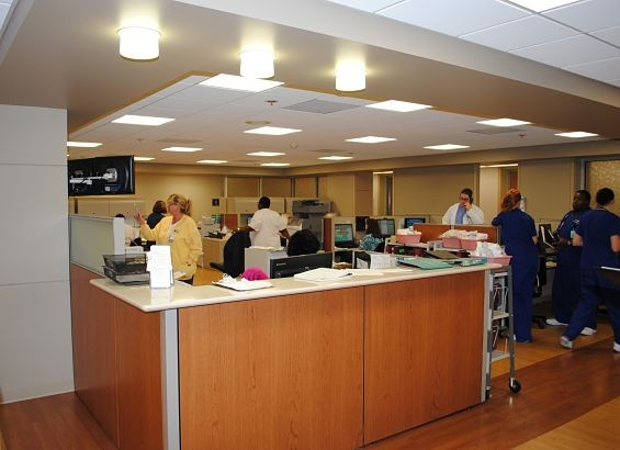 "The nurses' station in the new ""lean"" transplant unit. - COURTESY BARNES JEWISH HOSPITAL"