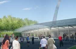 An artist's rendition of the proposed new entry for the Museum of Westward Expansion. - PHOTO VIA WWW.CITYARCHRIVER.ORG