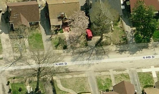 Gosa's body was dicovered in one of these driveways in the 1400 block of N. 44th Street.