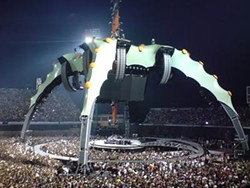 U2's spaceship stage as seen in a European stadium. - IMAGE VIA WIKIMEDIACOMMONS