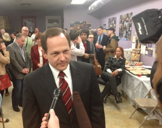 Francis Slay on election night in April. - SAM LEVIN