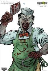 "One of Birchwood Casey's ""Darkotic"" zombie targets"