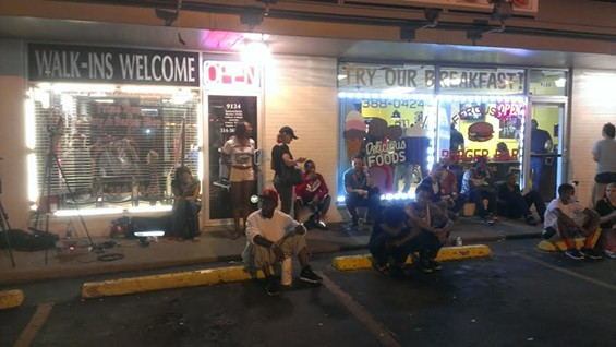 Open for business in Ferguson. - RAY DOWNS