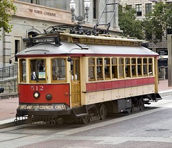Portland's Vintage Trolley #512 is on its way to St. Louis. - TRIMET
