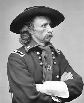 "General George Custer, moments before telling one of his men, a Lieutenant Patterson, he had, ""Complete faith you can lead us to victory over these Algonquin sunsabitches."""