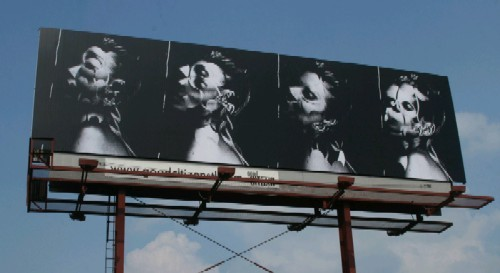 Tory Wright's billboard project for Crimson & Clover, opening this weekend at Good Citizen Gallery.
