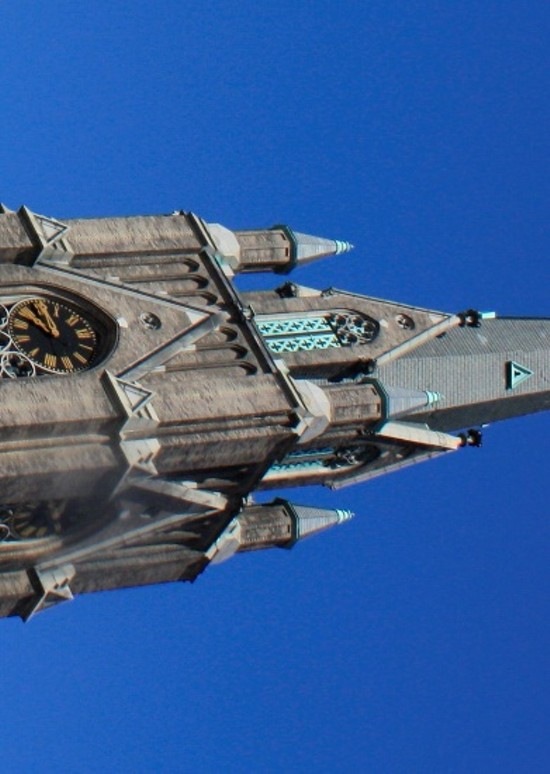 The tower of St. Francis de Sales - PHOTOS BY CHRIS NAFFZIGER