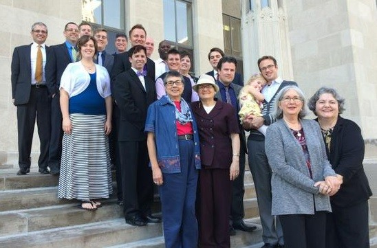 The victorious couples on the courthouse steps. - ACLU OF MISSOURI