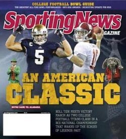 The Sporting News began with baseball. It ends with college football. - IMAGE VIA