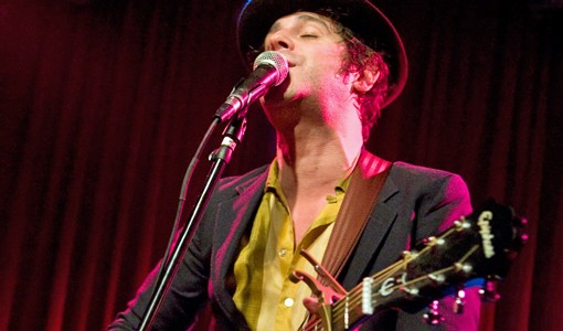 Langhorne Slim on Friday night at Off Broadway. Opening for the folk singer was April Smith & the Great Picture Show of Brooklyn, New York and local act John Henry and The Engine. See a concert slideshow here. - PHOTO: JON GITCHOFF
