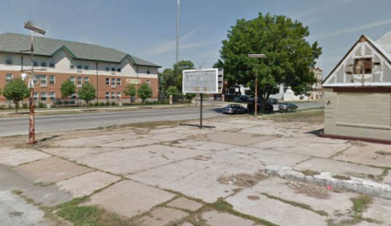 Site of yesterday's shooting. - VIA GOOGLE MAPS