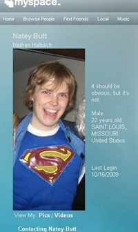 Nathan Halbach, reportedly the son of a St. Louis priest, is now ill with  brain cancer and asking for help from the Roman Catholic Church - WWW.MYSPACE.COM