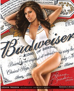 Rhonda hoped to land in a Budweiser poster like this one.
