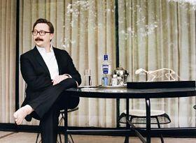 John Hodgman: barefoot sage of the Mad Art Gallery. - IMAGE VIA