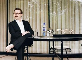 John Hodgman: barefoot sage of the Mad Art Gallery. - IMAGE VIA