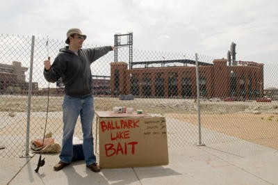 Our bait stand remains the first retail business in Ballpark Village. - PHOTO BY JENNIFER SILVERBERG