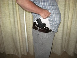 This guy can conceal his heater legally in MO - but only if he's a citizen - IMAGE VIA