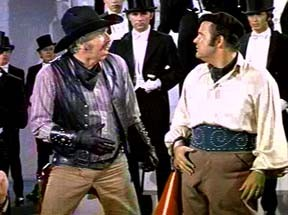 The inDOMitable Dom DeLuise (right), in Blazing Saddles (with the also-late-great Slim Pickens)