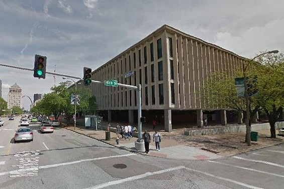 St. Louis municipal courthouse at 1520 Market Street, where you can get a new court date and keep that warrant cleared. - GOOGLE MAPS