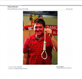 Orr alone with the noose. - IMAGE SOURCE