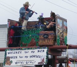 Redneck Mardi Gras in Worden, Illinois - VIA FACEBOOK