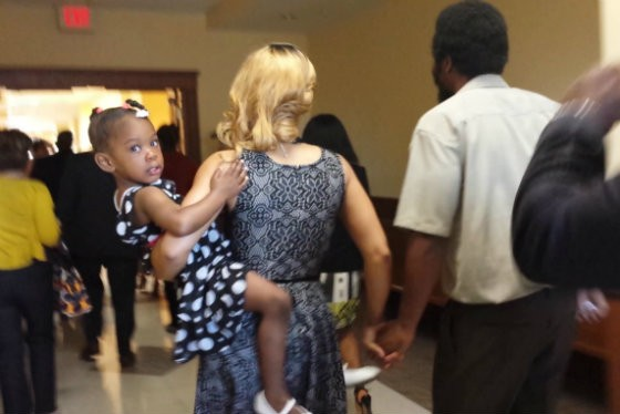 The Andersons leave the courtroom. - RFT
