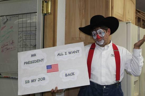Tuffy the Clown makes a plea to the President. - FACEBOOK