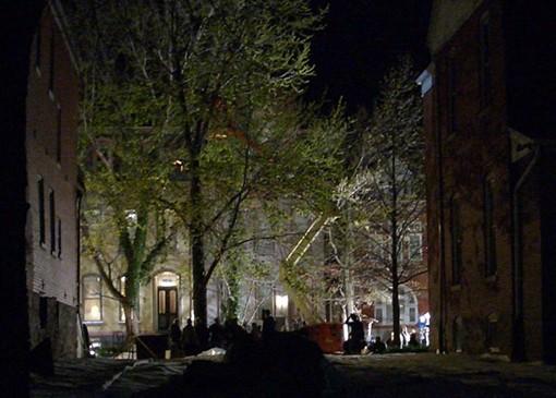 Clooney's midnight shoot in the Lafayette Square neighborhood - SANDY HERDE