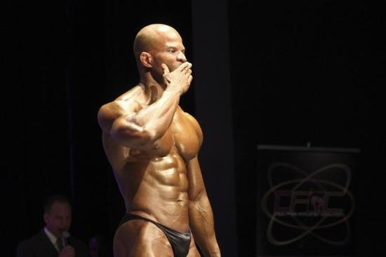 Robert Johnson, first place prize winner, ended his routine with a kiss to the audience. - DANNY WICENTOWSKI