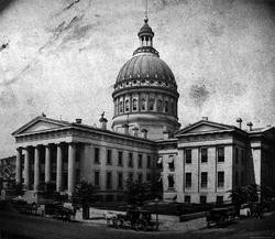 The Old Courthouse as it looked then -- and now.