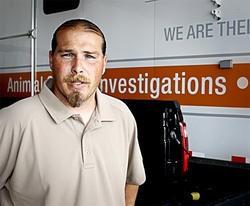 Tim Rickey's job is to stop animal fighting. - KEEGAN HAMILTION