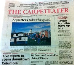 "It's OK, the editors didn't know what ""carpet eater"" really meant."