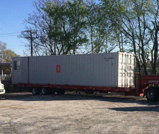 """The """"secure"""" mobile office where $10,000 worth of tools were stored. - COURTESY ERIC SCHWARZ"""
