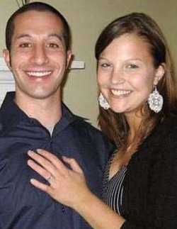 Rachel (Baumgartner) Lozano and her husband, Gabe - IMAGE VIA