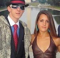 O'Keefe and ACORN video accomplice Hannah Giles as pimp and 'ho.