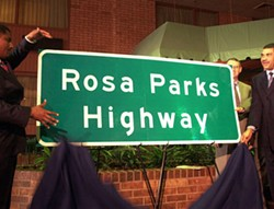 The unveiling of the Rosa Parks Highway. - BIOGRAPHY.COM