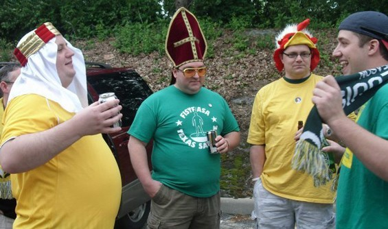 The Chickenhead posse tailgates prior to a game. - IMAGES VIA FACEBOOK