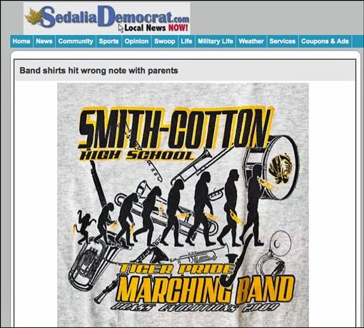 The shirt as it appears on the website for the Sedalia Democrat. - SEDALIADEMOCRAT.COM.