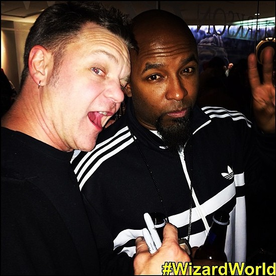 Rob Prior and Tech N9ne are down with the dancing cosplayers. - WIZARD WORLD ON FACEBOOK