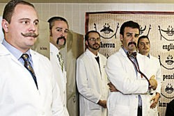 The gentlemen of the American Mustache Institute. - JENNIFER SILVERBERG