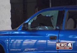 Damage after the shooting last night. - VIA KMOV.COM SCREENSHOT