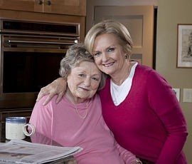 Betty Anne McCaskill and her daughter, Claire. - IMAGE VIA