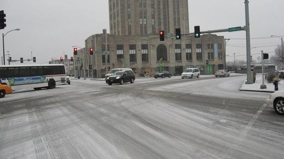 South Grand Boulevard, looking south across Gravois - PHOTO BY NICHOLAS PHILLIPS