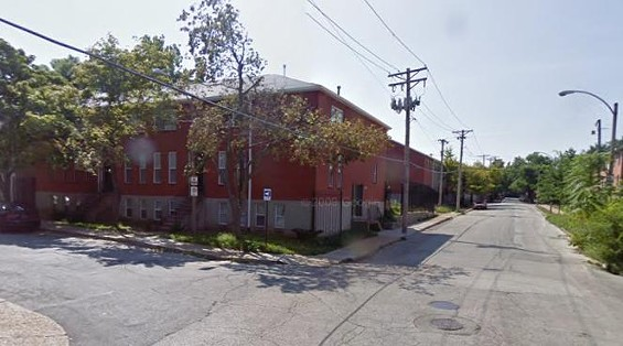 """The corner of Ohio and Rutger near where Little was allegedly stabbed by a suspect described only as a """"white woman."""""""